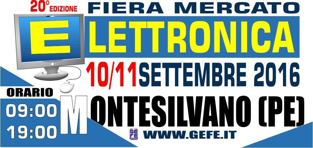 Fiera dell 39 elettronica a montesilvano 10 e 11 settembre for Fiera elettronica calendario 2016