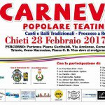 A Chieti il Carnevale Popolare Teatino martedì 28 febbraio 2017