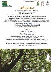 Le specie arboree e arbustive anti-inquinamento: salotto FAI a Pescara il 23 febbraio 2017