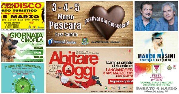 Eventi in Abruzzo dal 3 al 5 marzo 2017