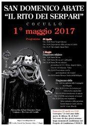 Il Rito dei Serpari a Cocullo per la Festa di San Domenico Abate il Primo Maggio 2017 1