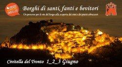 Borghi di Santi, Fanti e Bevitori a Civitella del Tronto dal 1° al 3 giugno 2017