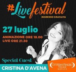 Cristina D'Avena al Città Sant'Angelo Outlet Village il 27 luglio 2017