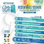 Festa dell'Estate 2017 a Cappelle sul Tavo: il programma di agosto