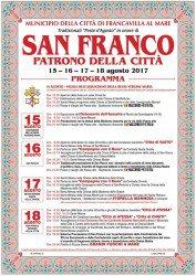 Festa di San Franco 2017 a Francavilla al Mare dal 15 al 18 agosto 1