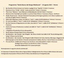 La Notte Bianca del Borgo Medievale di Penne il 14 agosto 2017 1