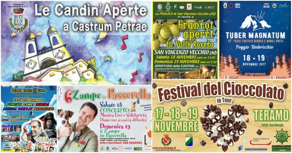 Eventi in Abruzzo dal 17 al 19 novembre 2017