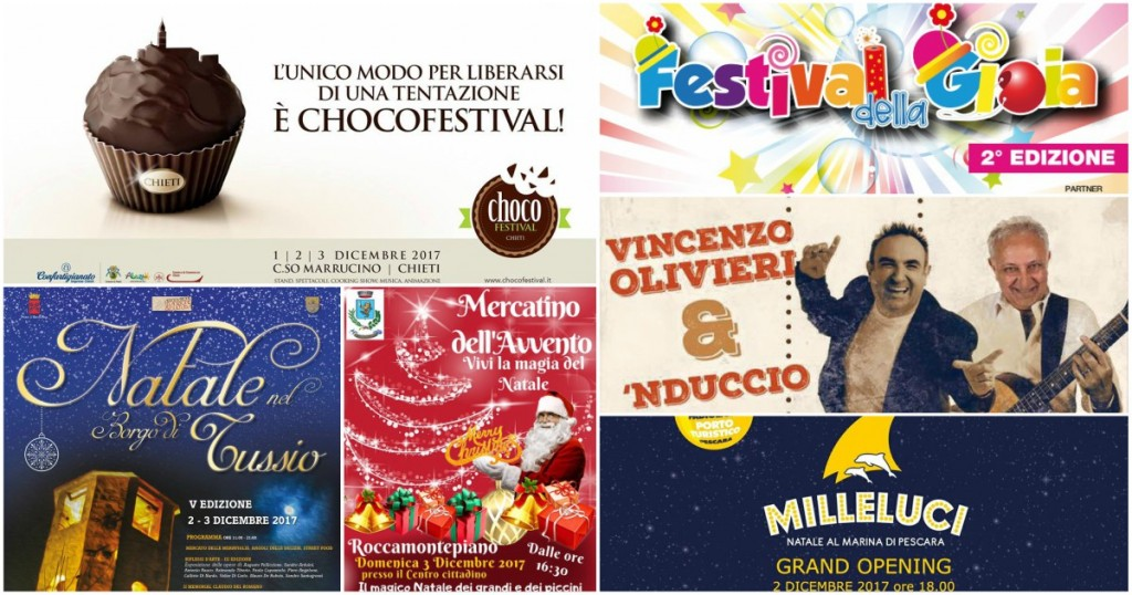Eventi in Abruzzo dal 1° al 3 dicembre 2017