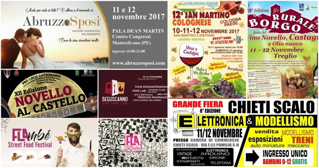Eventi in Abruzzo dal 10 al 12 novembre 2017