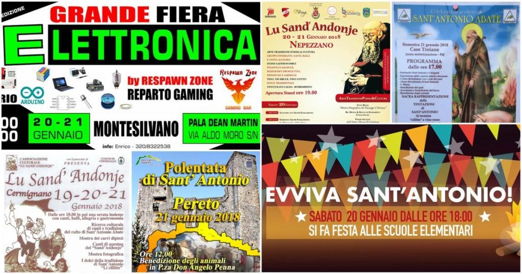 Eventi in Abruzzo dal 19 al 21 gennaio 2018