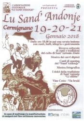 Festa di Sant'Antonio a Cermignano dal 19 al 21 gennaio 2018