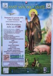 Festa di Sant'Antonio a Borgo Case Troiano il 21 gennaio 2018