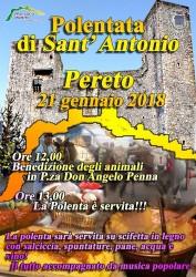 Polentata di Sant'Antonio a Pereto il 21 gennaio 2018