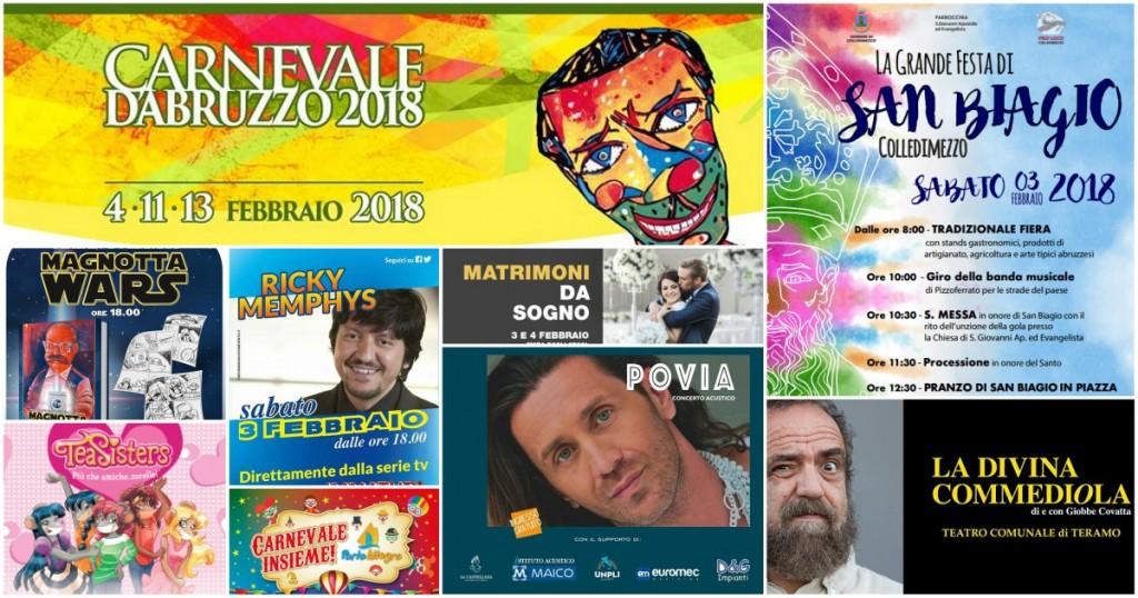 Eventi in Abruzzo dal 2 al 4 febbraio 2018