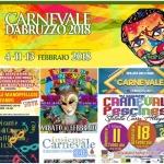 Eventi di Carnevale e non solo in Abruzzo dal 9 al 13 febbraio 2018