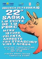Sagra del Maiale e della Polenta a Torricella Sicura il 25 febbraio 2018