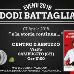 Dodi Battaglia al Centro d'Abruzzo il 7 aprile 2018