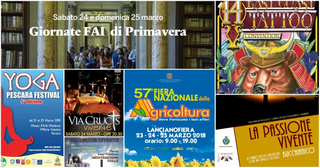 Eventi In Abruzzo dal 23 al 25 marzo 2018