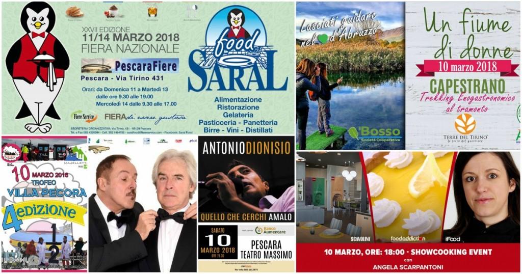 Eventi in Abruzzo dal 9 all'11 marzo 2018