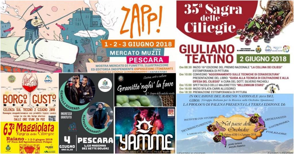 Eventi in Abruzzo dal 1 al 3 giugno 2018