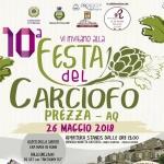 Festa del Carciofo a Prezza il 26 e 27 maggio 2018