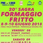 Sagra del Formaggio Fritto a Torricella Sicura dall'8 al 10 giugno 2018