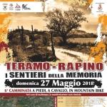 Teramo - Rapino: i Sentieri della Memoria il 27 maggio 2018