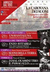 La Carovana dei Suoni 2018: Etno-Festival con Enzo Avitabile, Unavantaluna, i Suoni della terra...