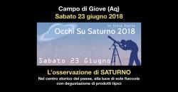 Occhi su Saturno a Campo di Giove il 23 giugno 2018