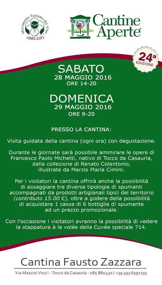Cantine Aperte 2016 in Abruzzo il 28 e 29 maggio: tutti i programmi 15