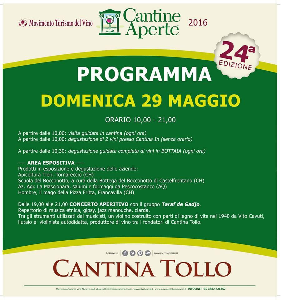 Cantine Aperte 2016 in Abruzzo il 28 e 29 maggio: tutti i programmi 33