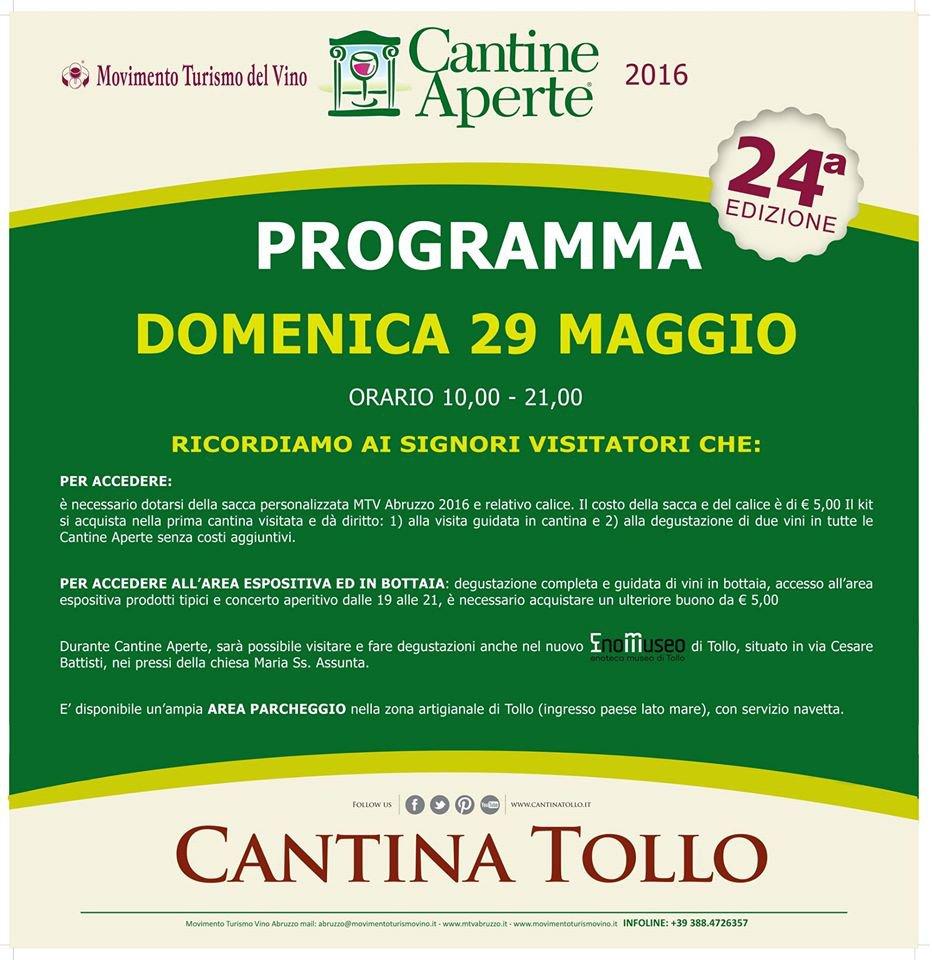 Cantine Aperte 2016 in Abruzzo il 28 e 29 maggio: tutti i programmi 32