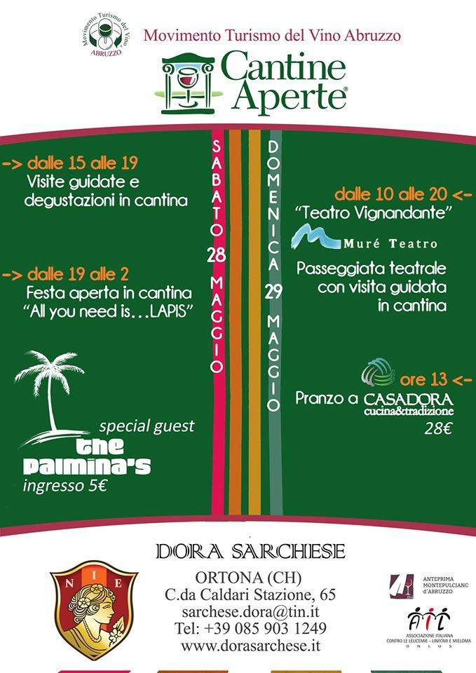 Cantine Aperte 2016 in Abruzzo il 28 e 29 maggio: tutti i programmi 30