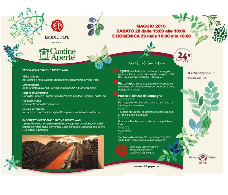 Cantine Aperte 2016 in Abruzzo il 28 e 29 maggio: tutti i programmi 16