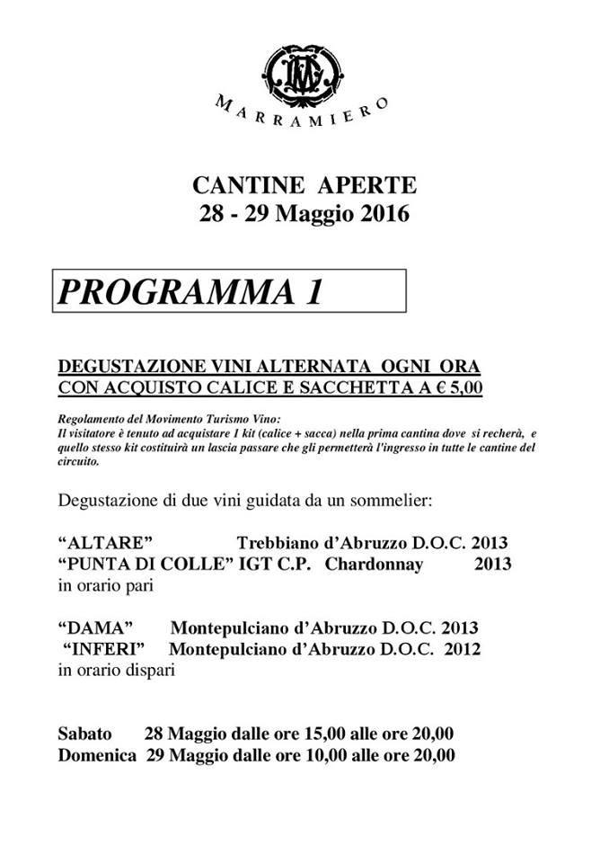 Cantine Aperte 2016 in Abruzzo il 28 e 29 maggio: tutti i programmi 6