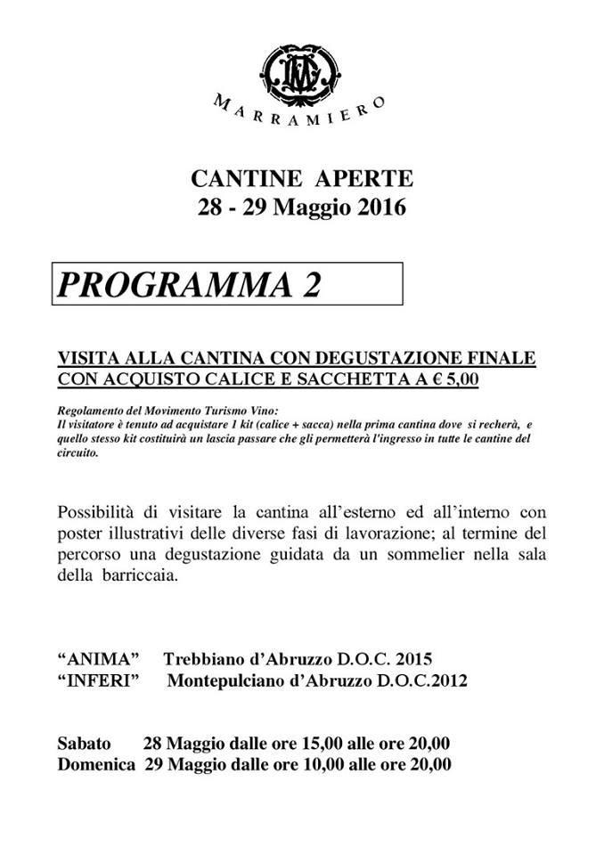 Cantine Aperte 2016 in Abruzzo il 28 e 29 maggio: tutti i programmi 5