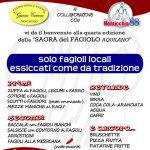 Sagra del Fagiolo 2016 - Monticchio - Menù