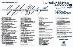 Notte Bianca dell'Adriatico 2016 - Pescara - Programma
