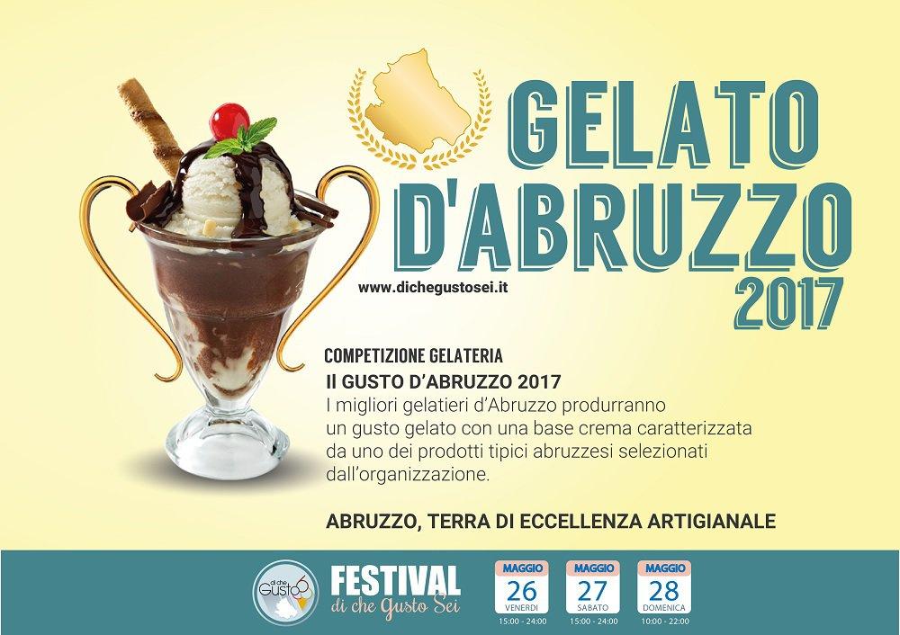 """""""Di Che gusto Sei"""" 2017:  al via le selezioni per il concorso """"Gelato d'Abruzzo"""""""