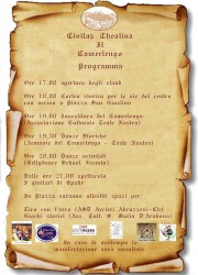 Civitas Theatina Il Camerlengo: Serata Medievale a Chieti il 24 settembre 2017 1