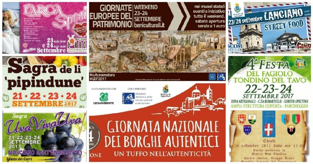 Eventi in Abruzzo dal 22 al 24 settembre 2017
