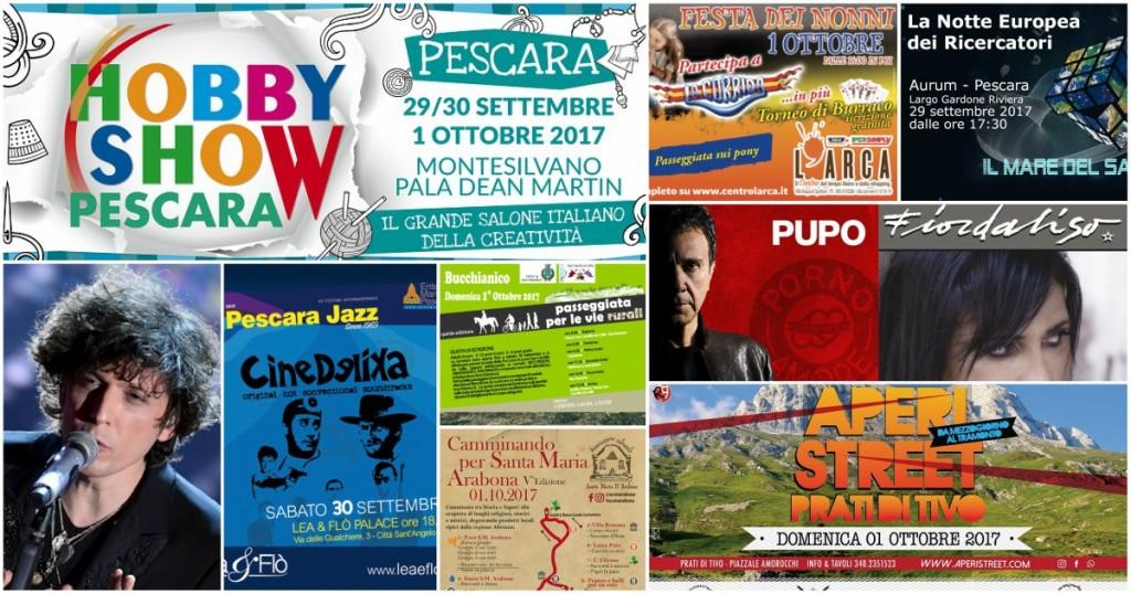 Eventi in Abruzzo dal 29 settembre al 1° ottobre 2017
