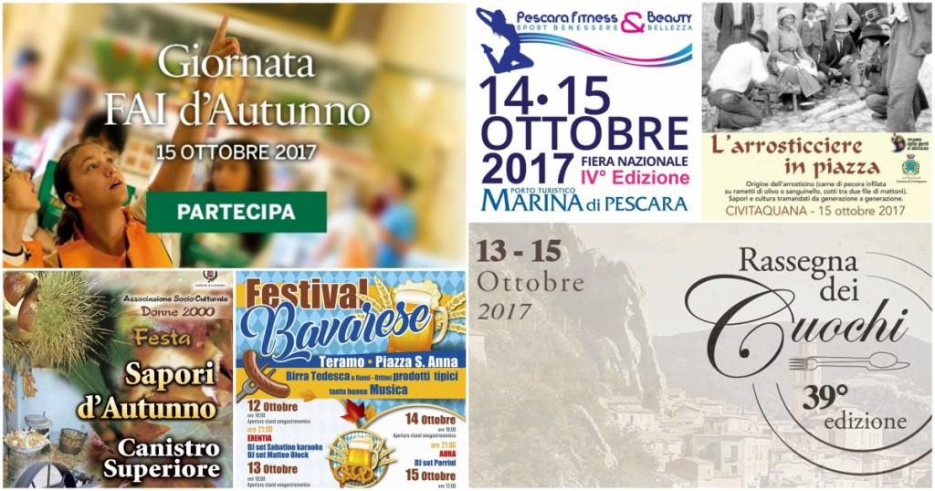 Eventi in Abruzzo dal 13 al 15 ottobre 2017