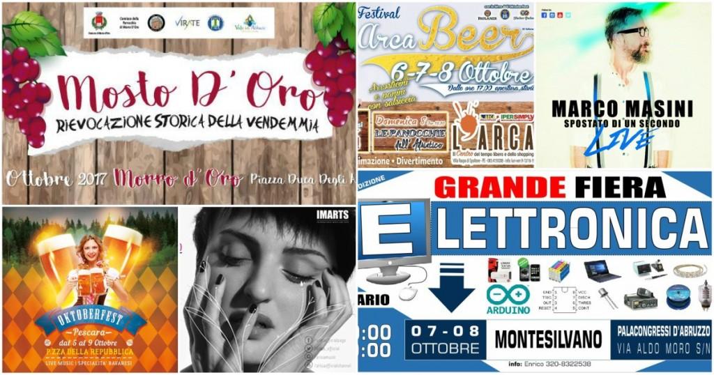 Eventi in Abruzzo dal 6 all'8 ottobre 2017