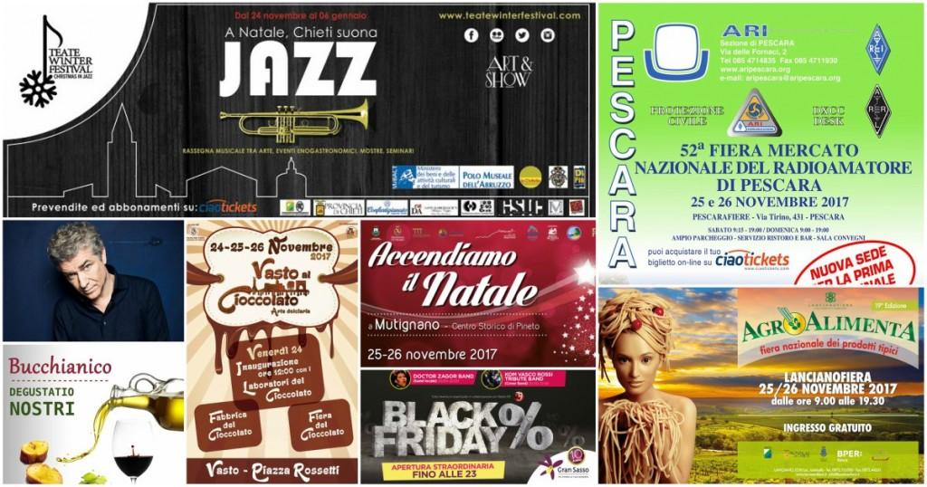 Eventi in Abruzzo dal 24 al 26 novembre 2017