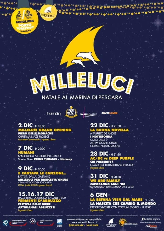 Milleluci: Natale 2017 al Marina di Pescara