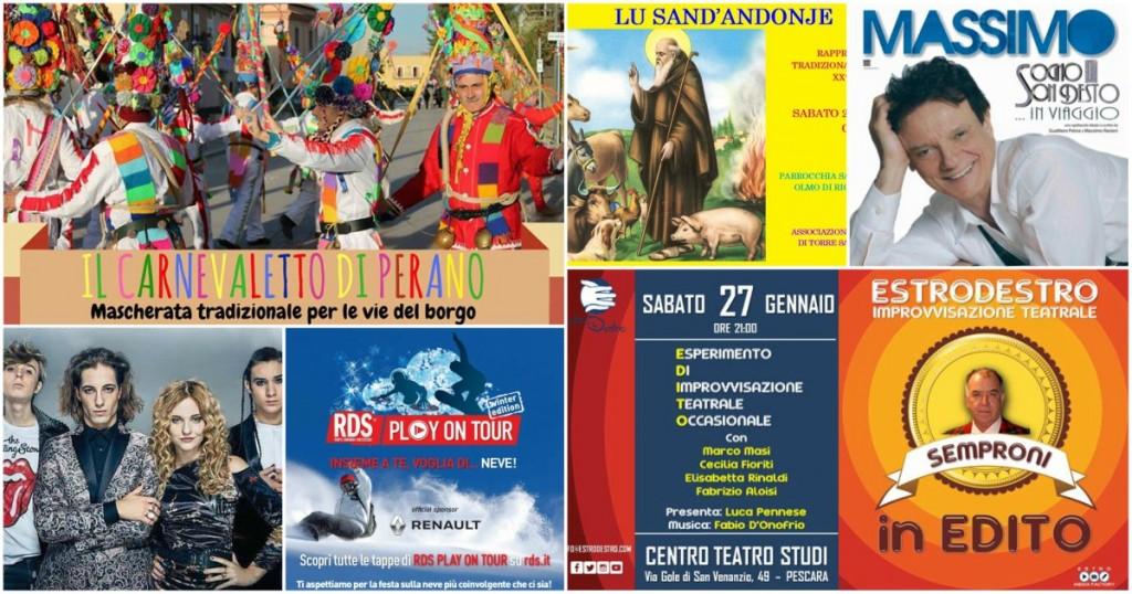 Eventi in Abruzzo dal 26 al 28 gennaio 2018