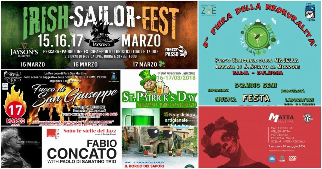 Eventi in Abruzzo dal 16 al 18 marzo 2018