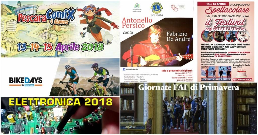 Eventi in Abruzzo dal 13 al 15 aprile 2018
