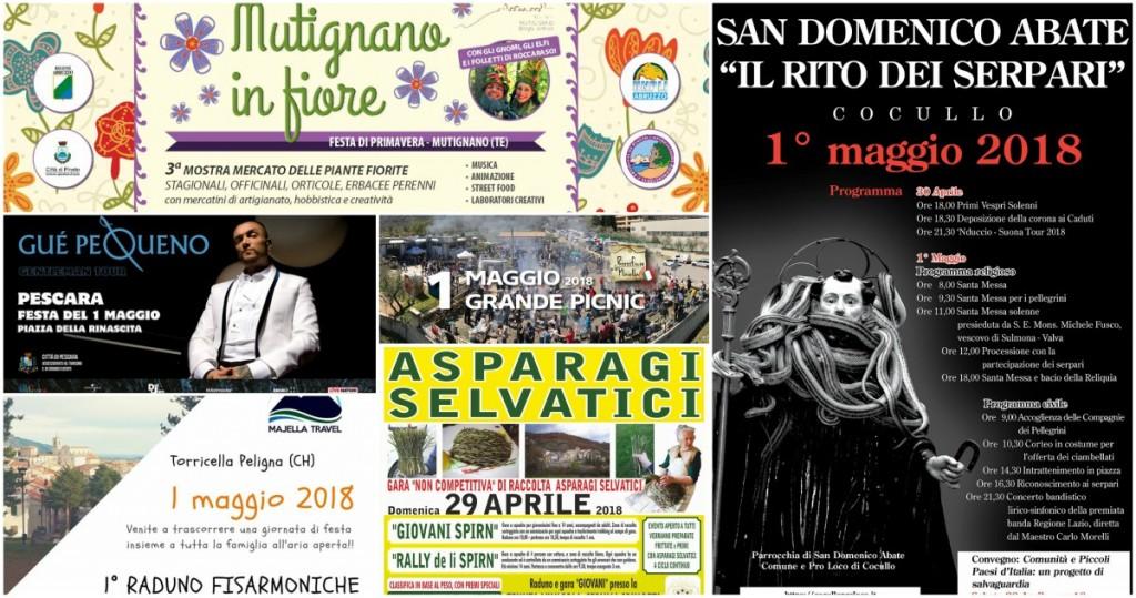 Primo Maggio 2018 in Abruzzo: gli Eventi per il Ponte